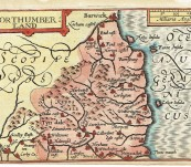 Map of Northumberland – John Speed / Pieter van den Keere – 1627