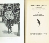 Paradise Quest – A Naturalist's Experiences in New Guinea – Lee Crandall – First Edition 1931
