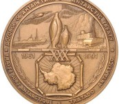 Russian Antarctic Treaty Medal – Leningrad Mint – 1991