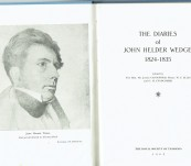 The Diaries of John Helder Wedge 1824-1835 [in Tasmania]