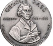 George Bass – Discovery of the Bass Strait  – Silver Commemorative Medal – 1968