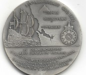 Abel Tasman Medal – 350th Anniversary of the Discovering of the West Coast of Tasmania 1642-1992
