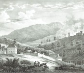 A View of the Clearings at the Foot of Mount Wellington  – Hobart, Tasmania [Vue des Defrichemens. Au pied du mont Wellington (Ile Van Diemen) -1833