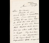 """Egyptology – """"The Mummy's Curse"""" – Letter from Sir John Alexander Cockburn 1929 re mysterious death of Hackett on Sayce expedition."""