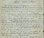 Dalmorton Quartz Mining Co [NewSouth Wales] – Original Manuscript Record of Formation and Original Share Issue – 21st October 1872