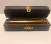 "Direct Vision ""Rainband"" Cased Brass Spectroscope – Late Victorian"