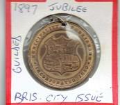 Brisbane City Medal Celebrating Queen Victoria's Diamond Jubilee 1897