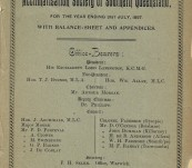 First Annual Report of the Acclimatisation Society of Southern Queensland – 1897 – Robert Logan Jack's Copy