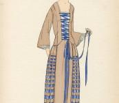 Blue Lace-up Dress – Gazette du Bon Ton – 1922