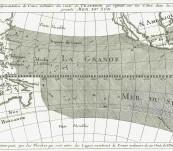 Map of the Pacific Ocean – 1747 Cartographer – Bellin