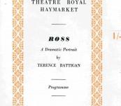 Scarce Lawrence of Arabia Memorabilia  – Ross … A Dramatic Portrait – 1960 Theatre Royal London