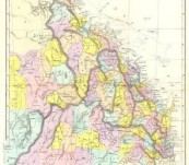 Map of Colony of Queensland 1895
