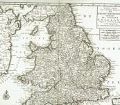Map of England – Tirion – 1730