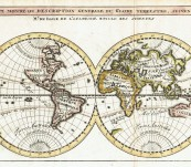 Map of the World – Cartographer De l'Ilse – Engraved and Published by Chatelain – c1730