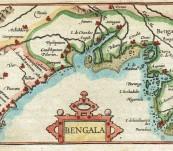 Map of Bengal – Petrus Bertius – 1602