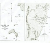 First Edition maps of Islands off Terra Napoleon and the County of Cumberland in New South Wales – Louis de Freycinet – 1811 – First Printing