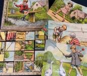 Australian Vintage Children's Puzzle Blocks – c1920's