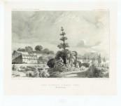 "Hobart Botanical Gardens -1840 Jardin Botanique D'Hobart-Town – Original Lithograph from the Voyage of Dumont d""Urville"