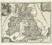 Antique Map of the British Isles (Veteris et Novae Britanniae) – Philipp Cluver – c1690's
