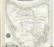 Decorative Map of Van Diemen's Island or Tasmania – Circa 1851 – by John Tallis