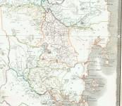 Map of Van Diemen's Land or Tasmania – A.K. Johnston FRGS – 1844