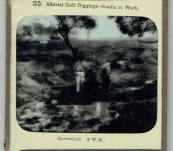 Gold Mining in Queensland – Two Original Magic Lantern Slides – 1890's