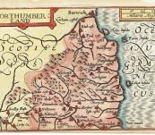 Map of Northumberland – John Speed / Pieter van den Keere – 1627