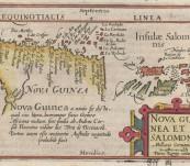 Nova Guinea et In Salomons – 1612 – Published by Henry Laurentz for Bertius engraved by Peter Van den Keere.