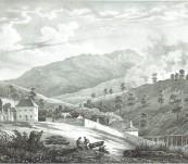 A View of the Clearings at the Foot of Mount Wellington  – Hobart, Tasmania [Vue des Defrichemens. Au pied du mont Wellington (Ile Van Diemen) -1833