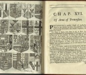 An Essay on the Ancient and Modern Use of Armories; Shewing Their Origin, Definition, and Division of them into their several Species. The Method of Composing them, and Marshalling many Coats together in one Shield. Alexander Nisbet – First Edition 1718 – Nice Item