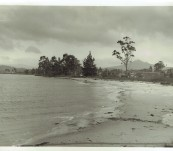 Tasmanian Period Photograph – Dover Beach and Adamson's Peak – J.C. Breaden