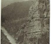 Tasmanian Period Photograph – Alum Cliffs, Mole Creek. – J.C. Breaden
